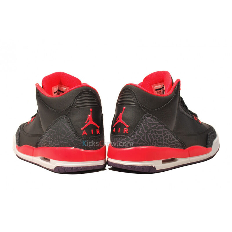 Air Jordan 3 Retro GS Bright Crimson 籃球鞋/運動鞋 (398614-005) 海外預訂