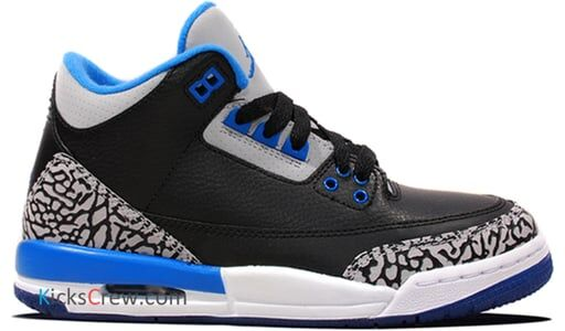 Air Jordan 3 Retro BG Sport Blue 籃球鞋/運動鞋 (398614-007) 海外預訂