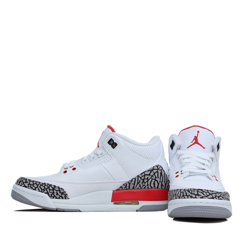 Air Jordan 3 Retro BG White Fire Red 籃球鞋/運動鞋 (398614-116) 海外預訂