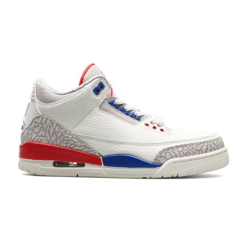 Air Jordan 3 Retro'International Flight' GS Sail/Sport Royal-Fire Red 籃球鞋/運動鞋 (398614-140) 海外預訂