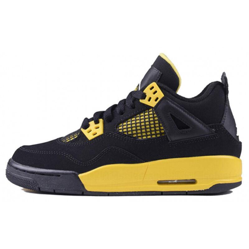 Air Jordan 4 Retro'Thunder' 2012 GS Black/White-Tour Yellow 籃球鞋/運動鞋 (408452-008) 海外預訂