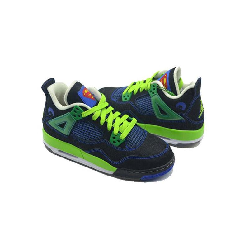 Air Jordan 4 Retro DB'Doernbecher' GS Black/Old Royal-Electric Green-White 籃球鞋/運動鞋 (408452-015) 海外預訂