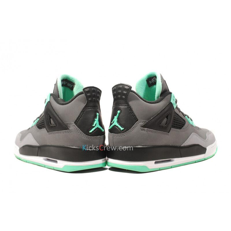 Air Jordan 4 Retro GS Dark Grey Green Glow 籃球鞋/運動鞋 (408452-033) 海外預訂