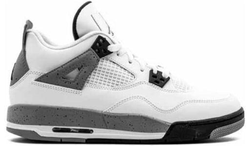 Air Jordan 4 Retro'Cement' 2012 GS White/Black-Cement Grey 籃球鞋/運動鞋 (408452-103) 海外預訂