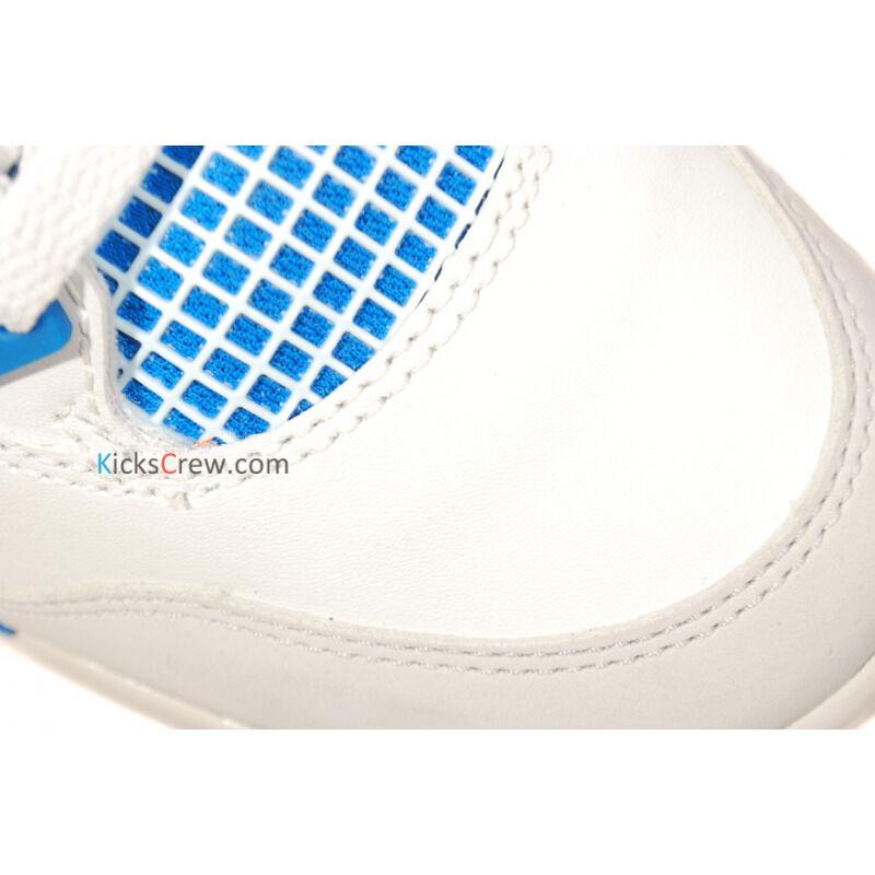 Air Jordan 4 Retro GS White Military Blue Grey 籃球鞋/運動鞋 (408452-105) 海外預訂
