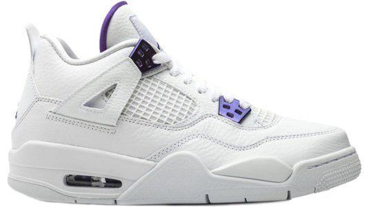 Air Jordan 4 Retro'Purple Metallic' GS White/Metallic Silver/Court Purple 籃球鞋/運動鞋 (408452-115) 海外預訂