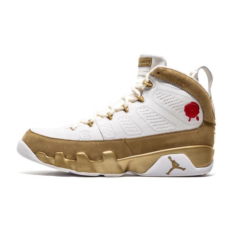 Air Jordan 9 Retro Premio 'Bin23' White/Metallic Gold 籃球鞋/運動鞋 (410917-101) 海外預訂