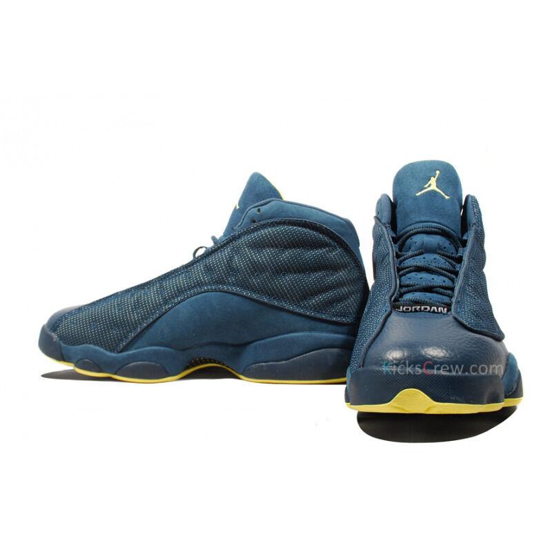 Air Jordan 13 Retro Squadron Blue Electric Yellow 籃球鞋/運動鞋 (414571-405) 海外預訂