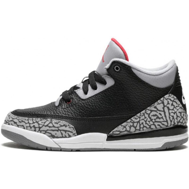 Air Jordan 3 Retro OG PS 'Black Cement' 2018 Black/Fire Red-Cement Grey 籃球鞋/運動鞋 (429487-021) 海外預訂