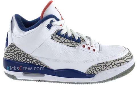 Air Jordan 3 Retro BP White 籃球鞋/運動鞋 (429487-106) 海外預訂