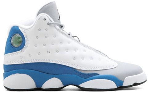 GIRLS Air Jordan 13 RETRO (GS) White/ITALY BLUE-WOLF GREY-Black 籃球鞋/運動鞋 (439358-107) 海外預訂