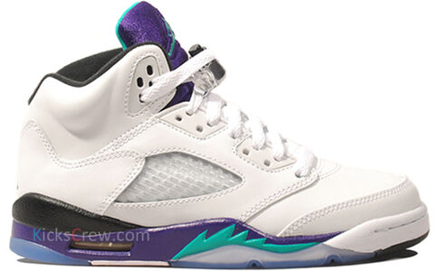 Air Jordan 5 Retro GS Grape 籃球鞋/運動鞋 (440888-108) 海外預訂