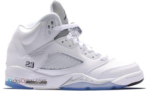Air Jordan 5 Retro BG White Metallic Silver 籃球鞋/運動鞋 (440888-130) 海外預訂