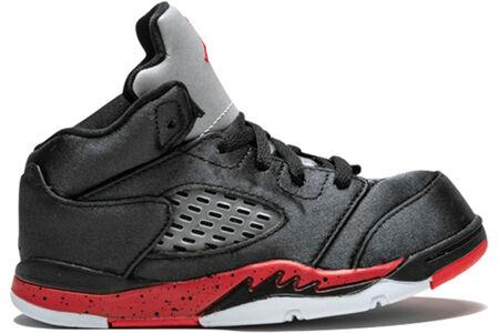 Air Jordan 5 Retro TD 'Satin Bred' Black/University Red 籃球鞋/運動鞋 (440890-006) 海外預訂