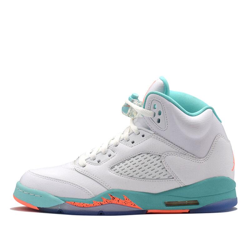 Air Jordan 5 Retro GS White Aqua Crimson 籃球鞋/運動鞋 (440892-100) 海外預訂