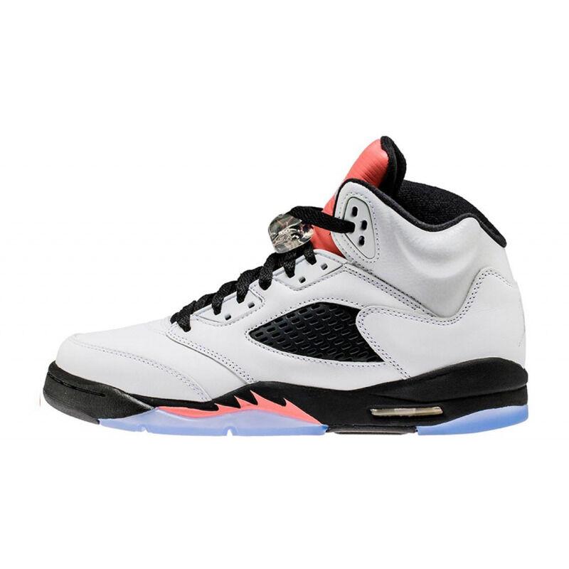 Air Jordan 5 Retro'Sunblush' GS White/Black-Sunblush 籃球鞋/運動鞋 (440892-115) 海外預訂