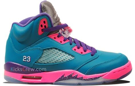 Air Jordan 5 Retro GS Tropical Teal Pink Purple 籃球鞋/運動鞋 (440892-307) 海外預訂