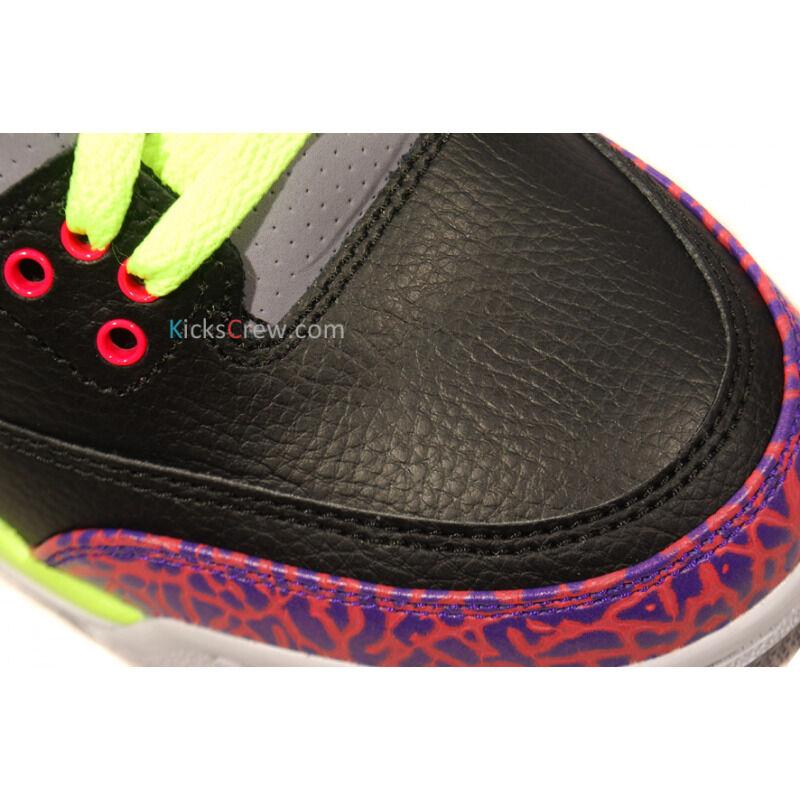 Air Jordan 3 Retro GS Black Atomic Red Volt 籃球鞋/運動鞋 (441140-039) 海外預訂
