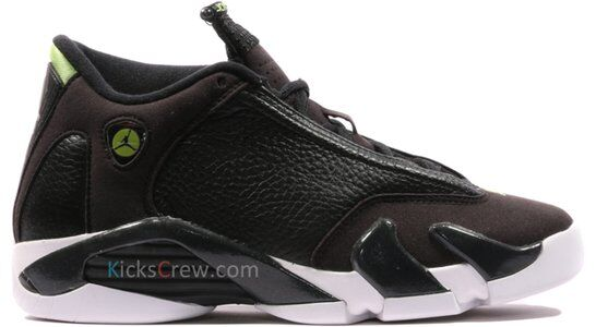 Air Jordan 14 Retro BG Black 籃球鞋/運動鞋 (487524-005) 海外預訂