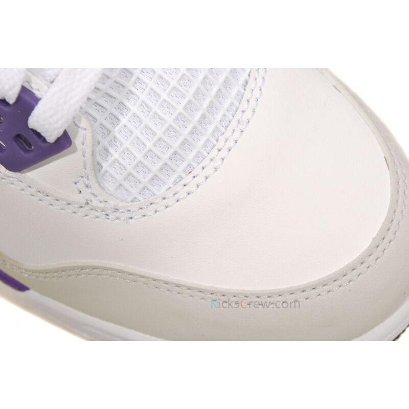 Girls Air Jordan 4 Retro GS White Ultra Violet 籃球鞋/運動鞋 (487724-108) 海外預訂