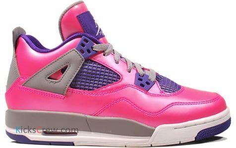 Air Jordan 4 Retro GS Pink Foil Purple 籃球鞋/運動鞋 (487724-607) 海外預訂