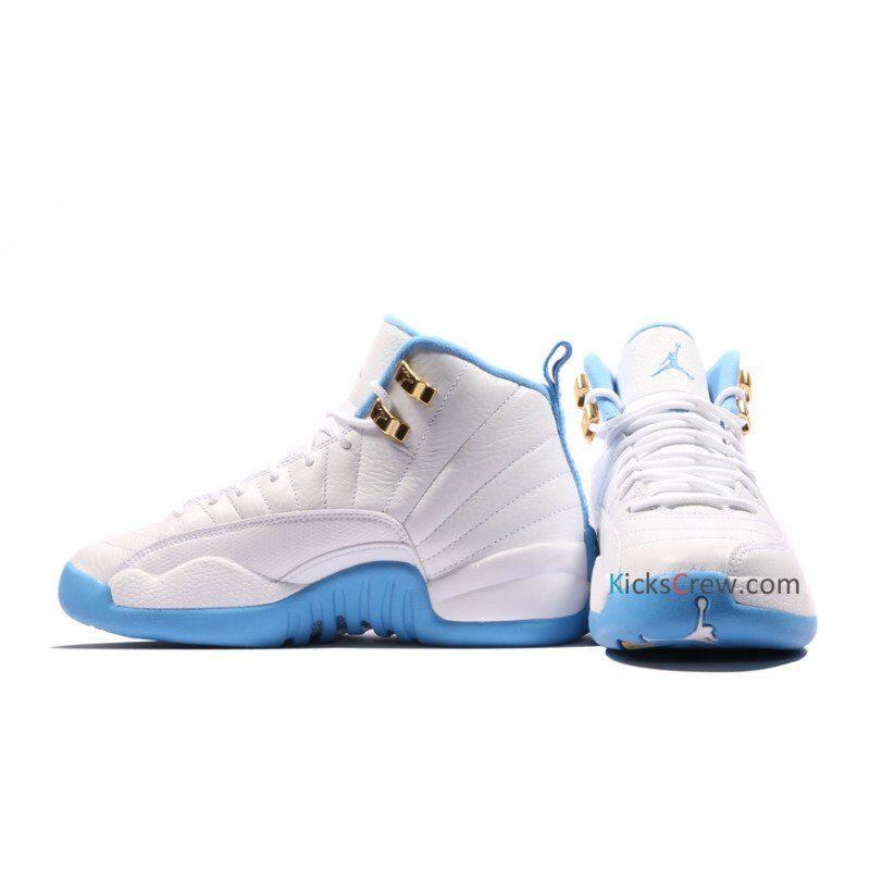 Air Jordan 12 Retro BG White University Blue 籃球鞋/運動鞋 (510815-127) 海外預訂