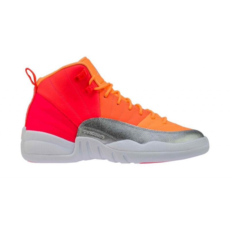 Air Jordan 12 Retro'Sunrise' GS Racer Pink/Hot Punch/Bright Mango/White 籃球鞋/運動鞋 (510815-601) 海外預訂