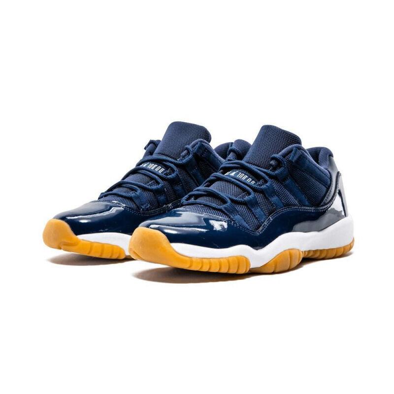 Air Jordan 11Retro Low 'Navy Gum' GS Midnight Navy/White-Gum Light Brown 籃球鞋/運動鞋 (528896-405) 海外預訂