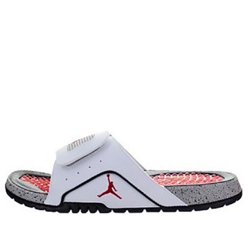 Jordan Hydro 4 White/Black Beach & Pool Slides/Slippers (532225-104) 海外預訂