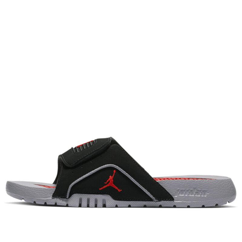 Jordan Hydro IV Retro GS Black Grey Red Beach & Pool Slides/Slippers (532226-006) 海外預訂