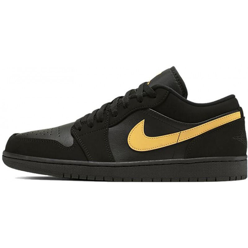 Air Jordan 1 Low 'Black University Gold' Black/University Gold/Black 籃球鞋/運動鞋 (553558-071) 海外預訂