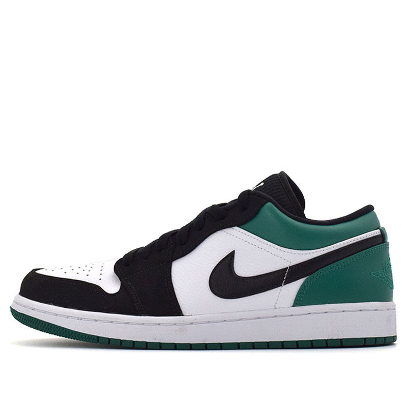 Air Jordan 1 Low White Black Mystic Green 籃球鞋/運動鞋 (553558-113) 海外預訂