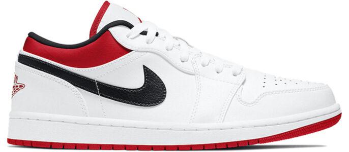 Air Jordan 1 Low White University Red 籃球鞋/運動鞋 (553558-118) 海外預訂