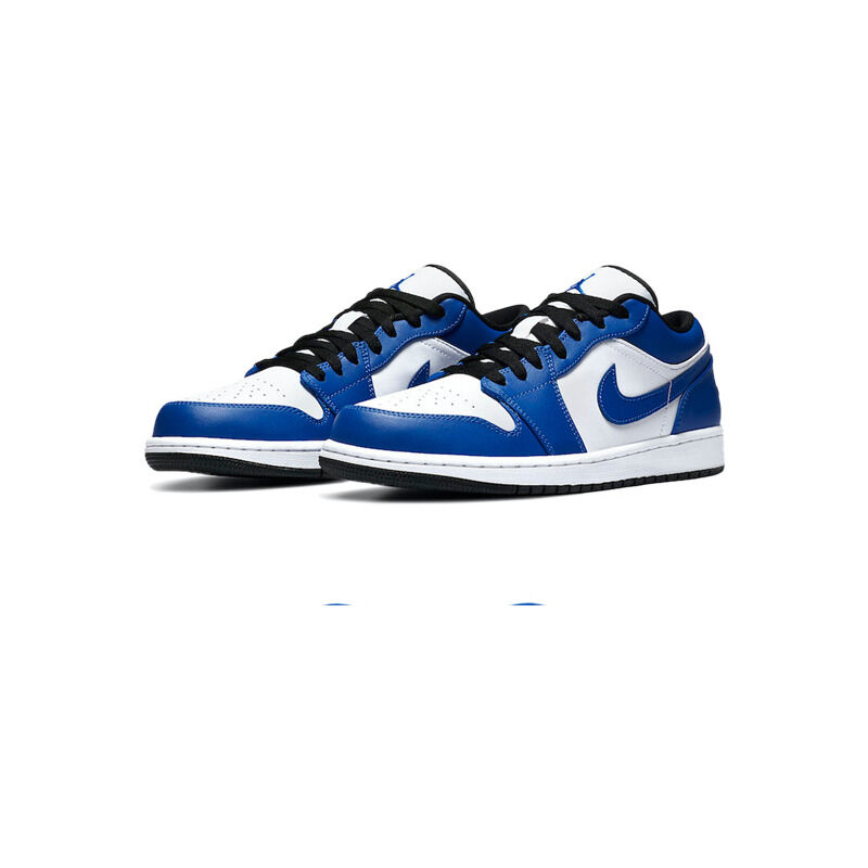 Air Jordan 1 Low 'Game Royal' White/Game Royal/Black 籃球鞋/運動鞋 (553558-124) 海外預訂