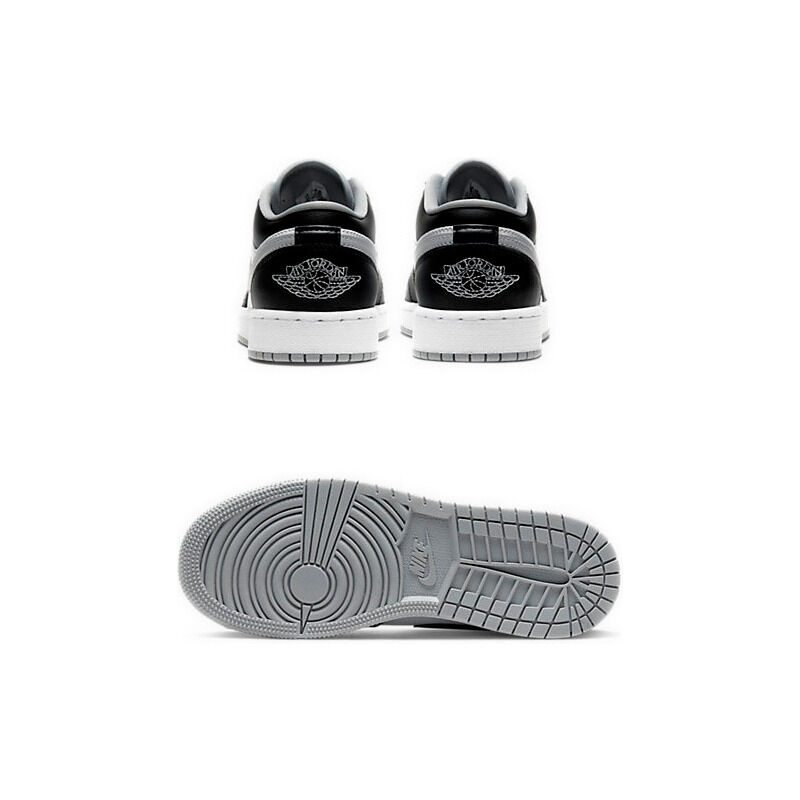 Air Jordan 1 Low'Smoke Grey' GS Black/Black/Light Smoke Grey/White 籃球鞋/運動鞋 (553560-039) 海外預訂