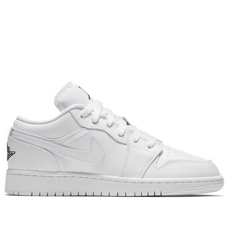 Air Jordan 1 Low GS Triple White 籃球鞋/運動鞋 (553560-110) 海外預訂