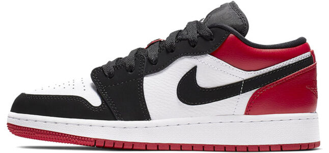 Air Jordan 1 Low GS Black Toe 籃球鞋/運動鞋 (553560-116) 海外預訂