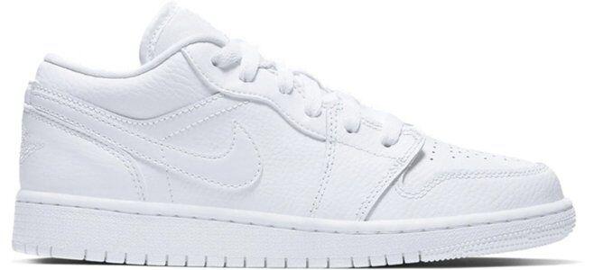 Air Jordan 1 Low 'Triple White' GS White/White/White 籃球鞋/運動鞋 (553560-126) 海外預訂