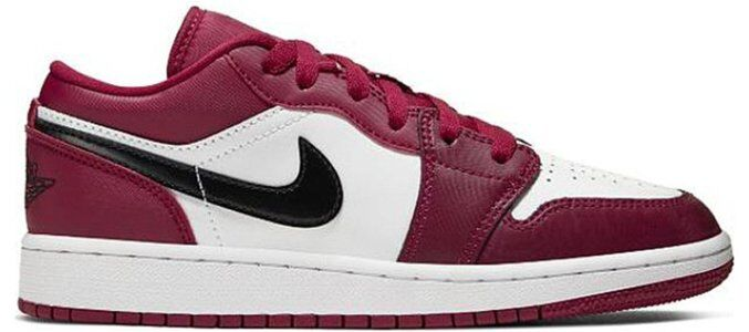 Air Jordan 1 Low'Noble Red' GS Noble Red/White/Black 籃球鞋/運動鞋 (553560-604) 海外預訂