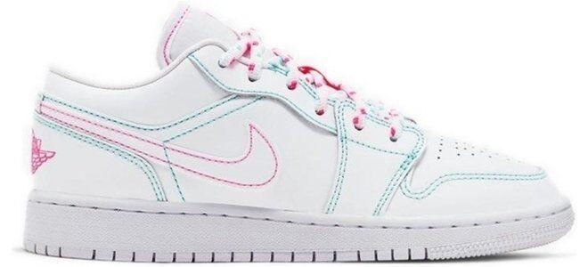 Air Jordan 1 Low'Aurora Green' GS White/White/Aurora Green/Soar 籃球鞋/運動鞋 (554723-101) 海外預訂