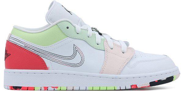 Air Jordan 1 Low GG White Ember Glow 籃球鞋/運動鞋 (554723-176) 海外預訂
