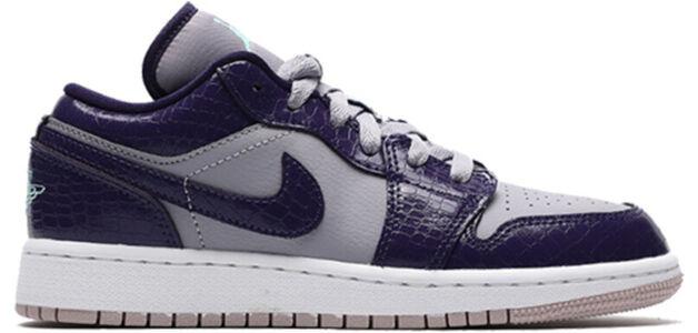 Air Jordan 1 Low'Provence Purple' GS Ink/Emerald Rise-Provence Purple 籃球鞋/運動鞋 (554723-501) 海外預訂