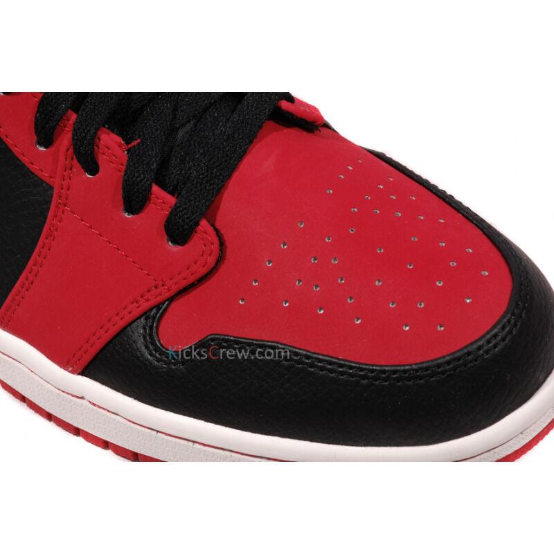 Air Jordan 1 Mid Black Gym Red 籃球鞋/運動鞋 (554724-005) 海外預訂