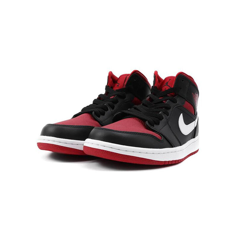 Air Jordan 1 Mid 'Black Gym Red' Black.Gym Red-White 籃球鞋/運動鞋 (554724-020) 海外預訂