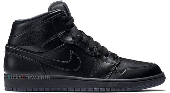 Air Jordan 1 Mid Black Dark Grey 籃球鞋/運動鞋 (554724-021) 海外預訂