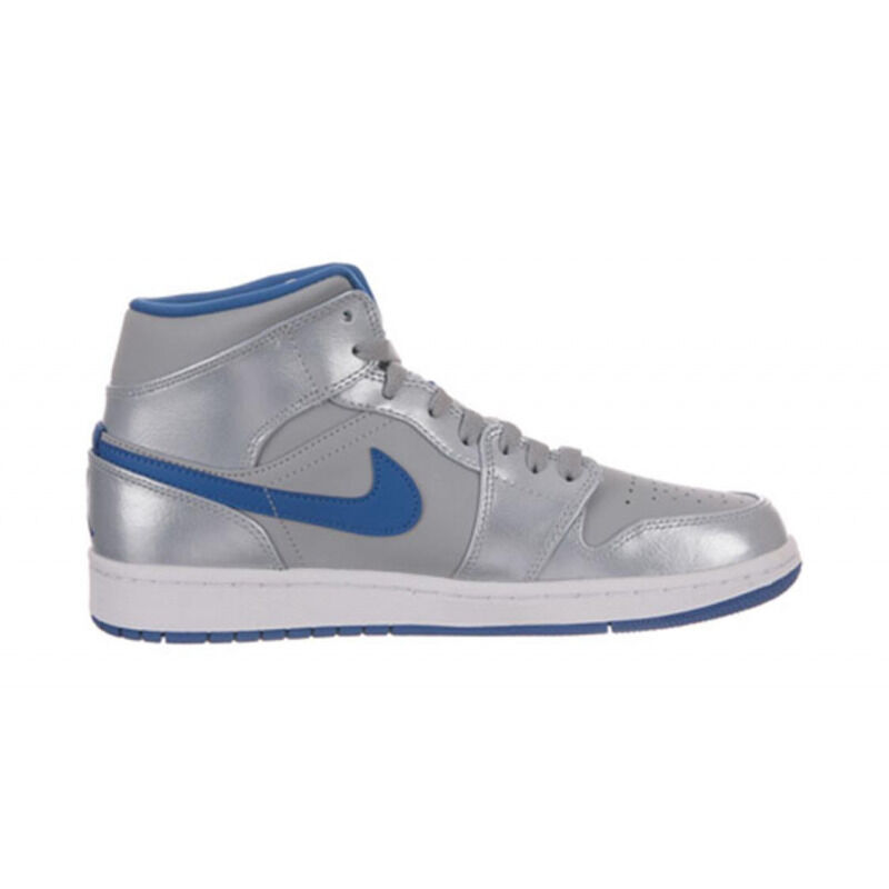 Air Jordan 1 Mid 'Wolf Grey' Wolf Grey/White-Sport Blue 籃球鞋/運動鞋 (554724-025) 海外預訂
