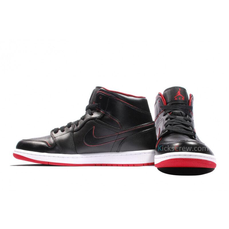 Air Jordan 1 Mid Black Gym Red 籃球鞋/運動鞋 (554724-028) 海外預訂