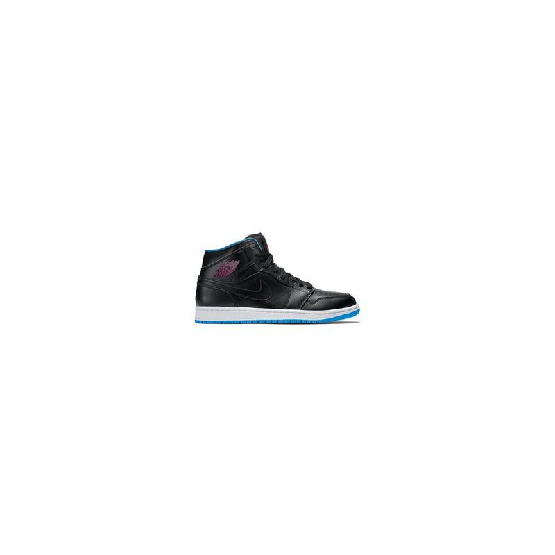 Air Jordan 1 Mid 'Radio Raheem' Black/Fire Pink-Photo Blue 籃球鞋/運動鞋 (554724-029) 海外預訂