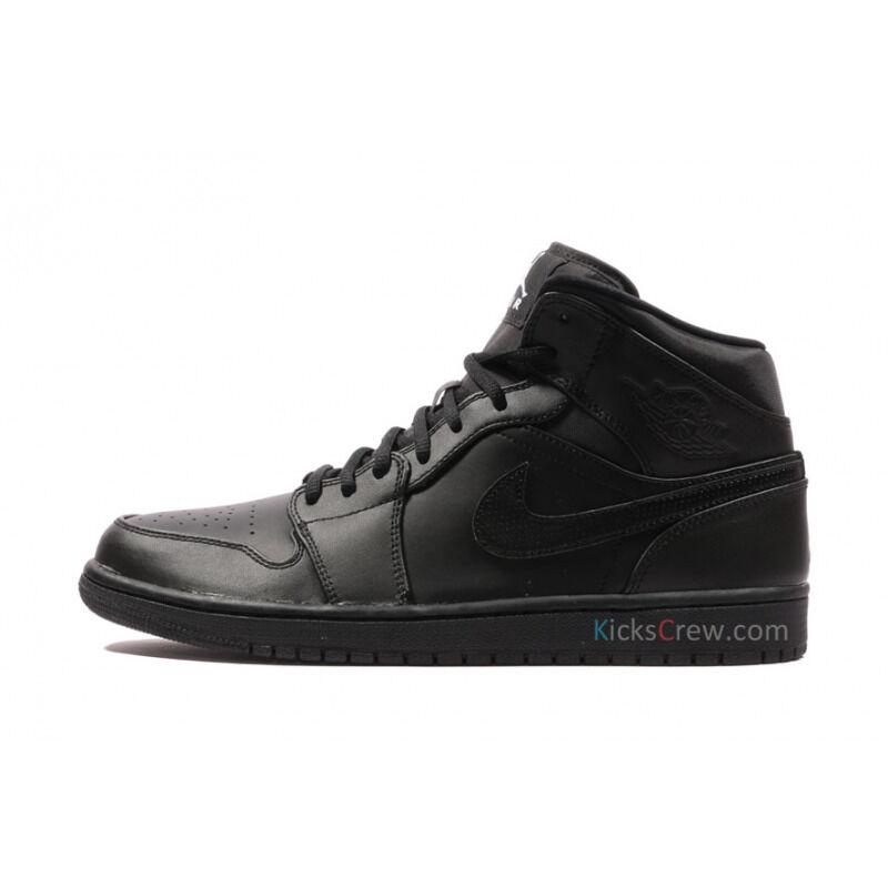 Air Jordan 1 Mid Black 籃球鞋/運動鞋 (554724-034) 海外預訂
