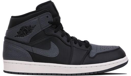 Air Jordan 1 Mid Black Dark Grey 籃球鞋/運動鞋 (554724-041) 海外預訂